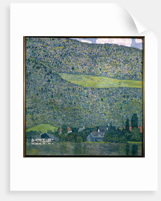 View of a Chateau Unterach on Lake Attersee, 1915 by Gustav Klimt