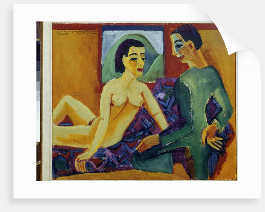 The Couple. Paris, National Museum of Modern Art Centre Pompidou by Ernst Ludwig Kirchner