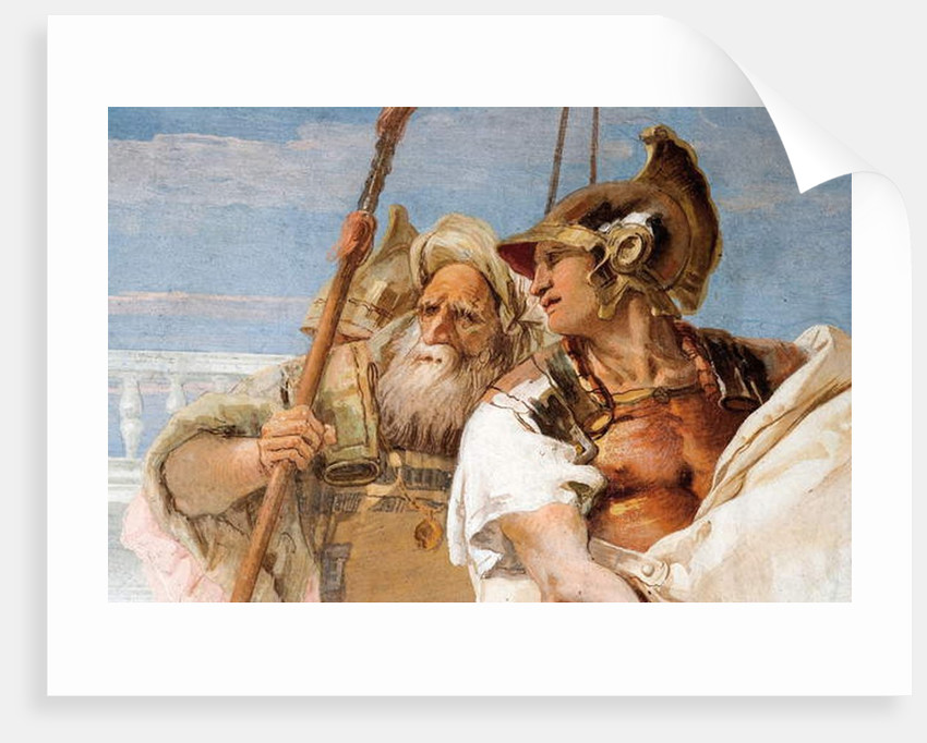 Detail of Aeneas, from Aeneid Presents Cupid, Disguised as Ascanius, to Dido by Giovanni Battista Tiepolo