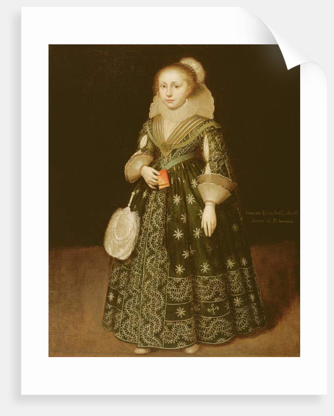Portrait of a Young Girl, traditionally said to be Elizabeth, Queen of Bohemia by Wybrand Symonsz de Geest