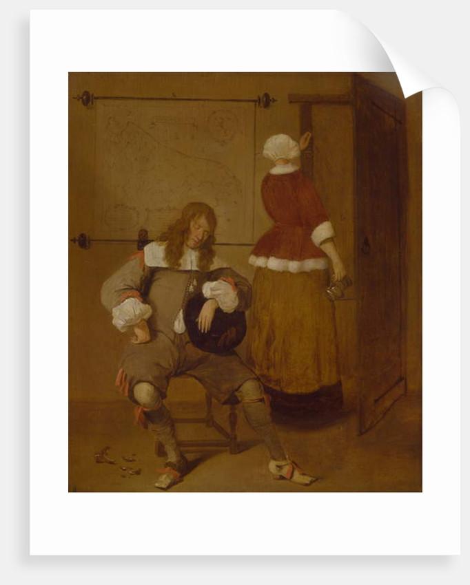 The Tired Drinker by Quiringh Gerritsz. van Brekelenkam