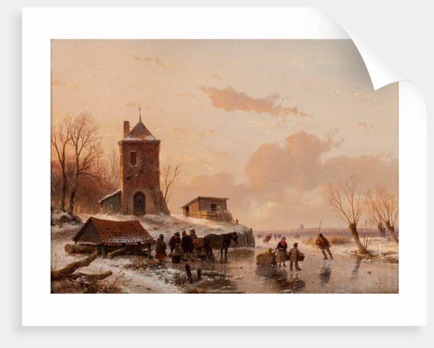 Loading the Sleigh 1858 by Andreas Schelfhout