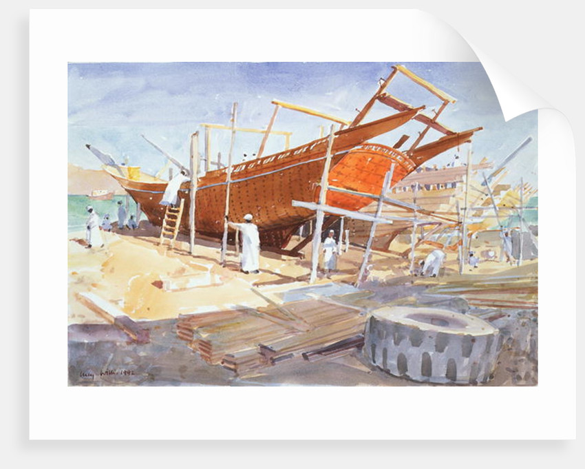Dhow Yard, Sur, 1992 by Lucy Willis
