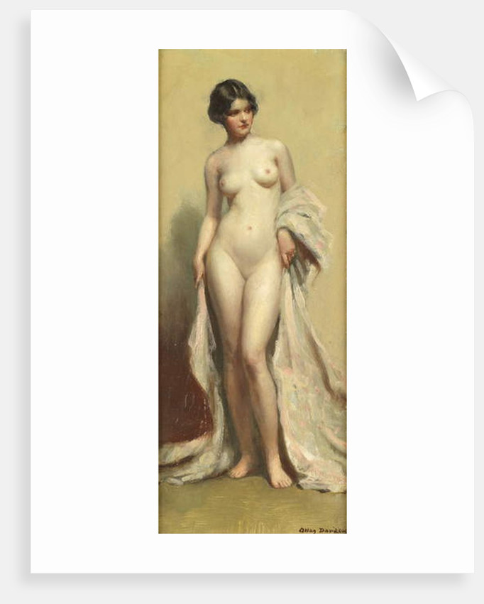 Standing Nude with Robe by Allan Douglas Davidson