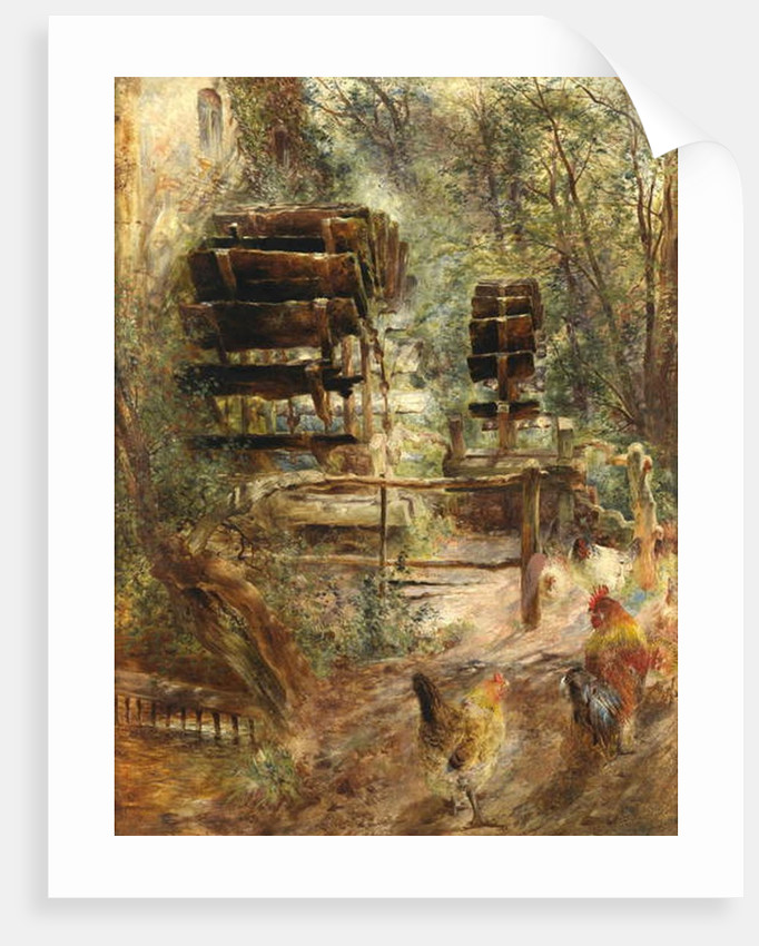 Watermill at Rossett, North Wales by William Huggins