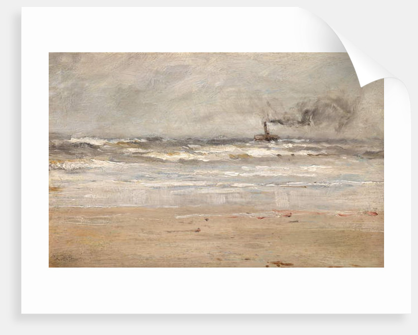 A Steamer in Dirty Weather by Ernst Dade
