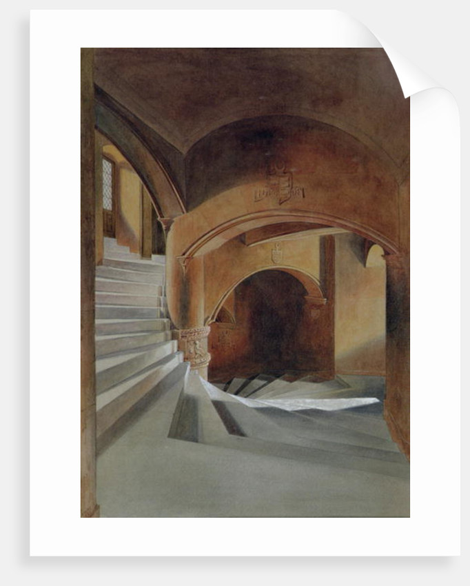 The Staircase in Fyvie Castle by James Giles