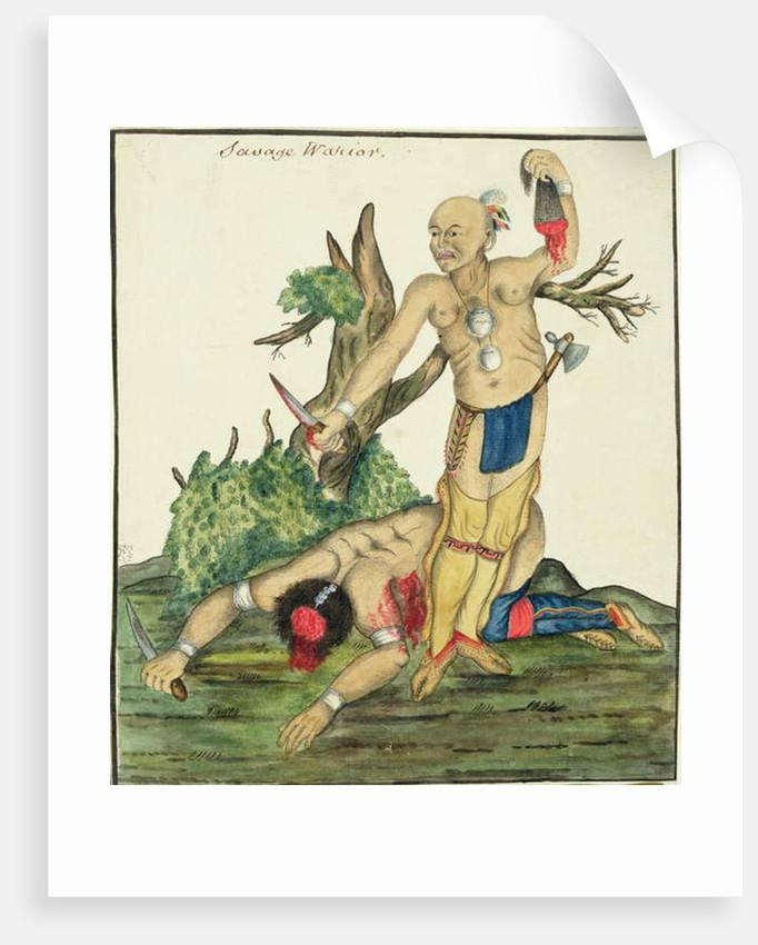 Savage Warrior, c.1800 by English School