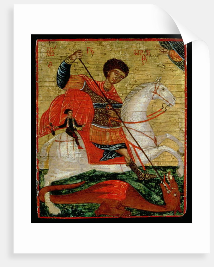 Icon of St. George and the Dragon by School Cretan