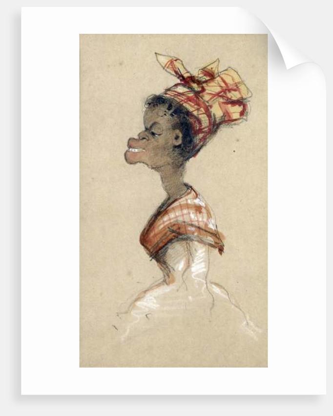 Black Woman Wearing a Headscarf, 1857 by Claude Monet