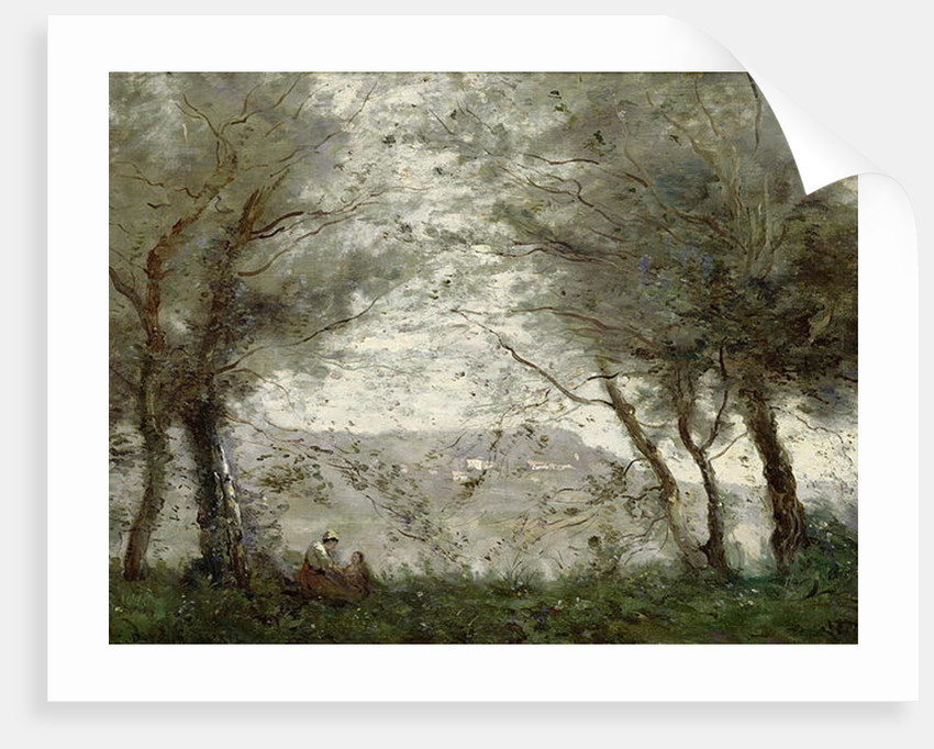 The Pond at Ville-d'Avray through the Trees, 1871 by Jean Baptiste Camille Corot