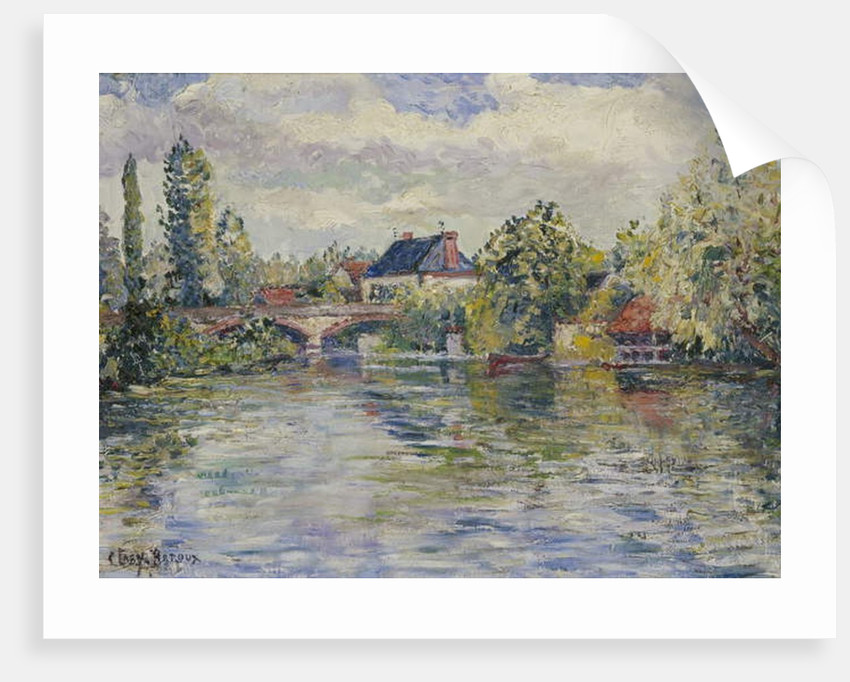 The Bridge of Garennes by Adolphe Clary Baroux
