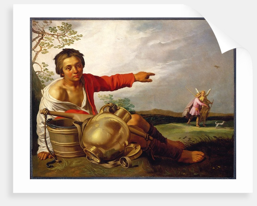 Shepherd Boy Pointing at Tobias and the Angel, c.1625-30 by Abraham Bloemaert