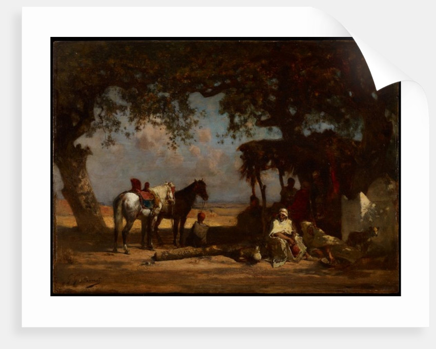 An Arab Encampment, c.1880 by Gustave Guillaumet