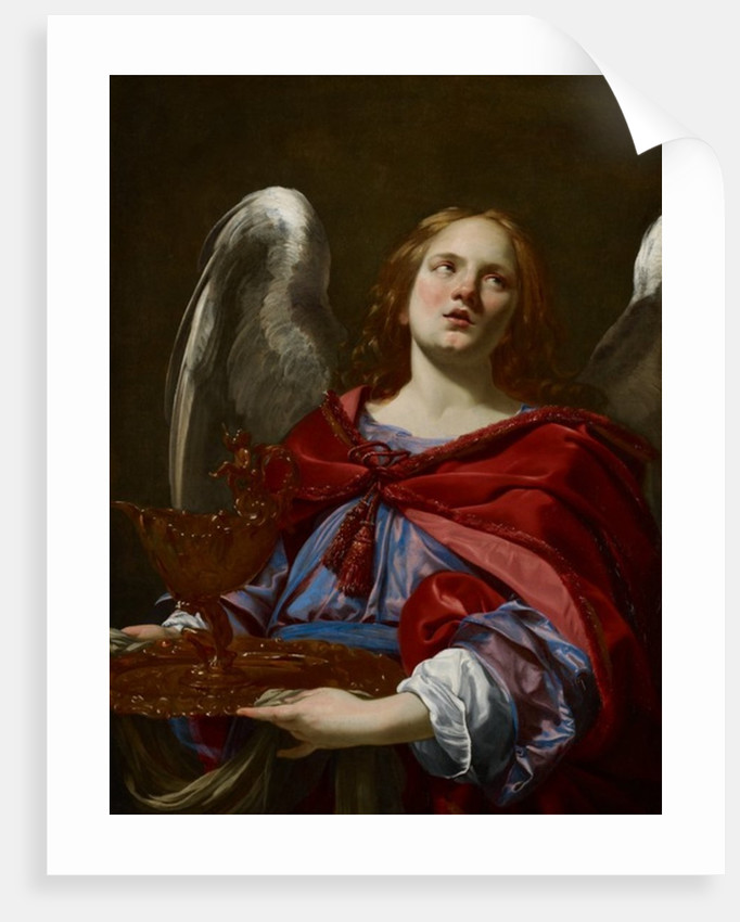 Angels with Attributes of the Passion: Angel Holding the Vessel and Towel for washing the hands of Pontius Pilate, c.1624 by Simon Vouet