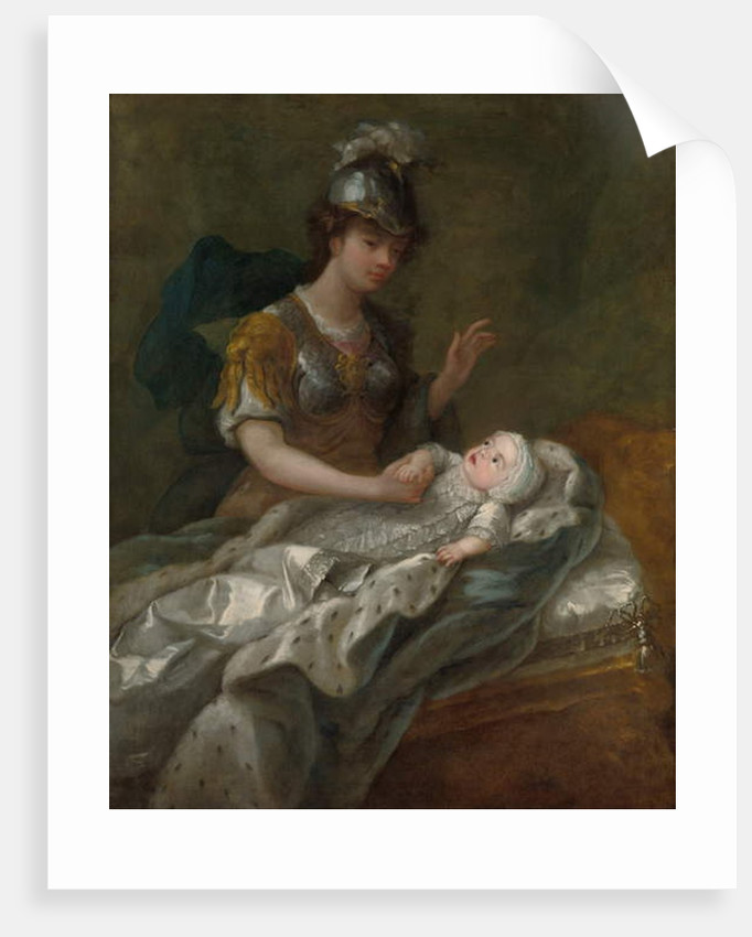 Portrait of Princess Augusta as a baby, with Britannia by Charles Philips