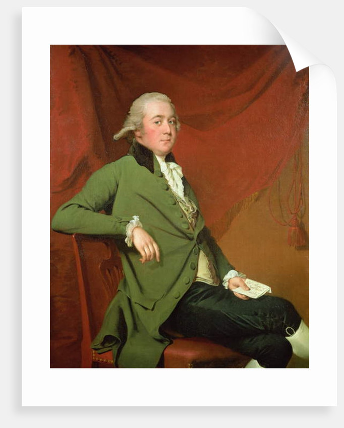 Portrait of Edward Abney of King Newton, Derbyshire, late 1780s by Joseph Wright of Derby