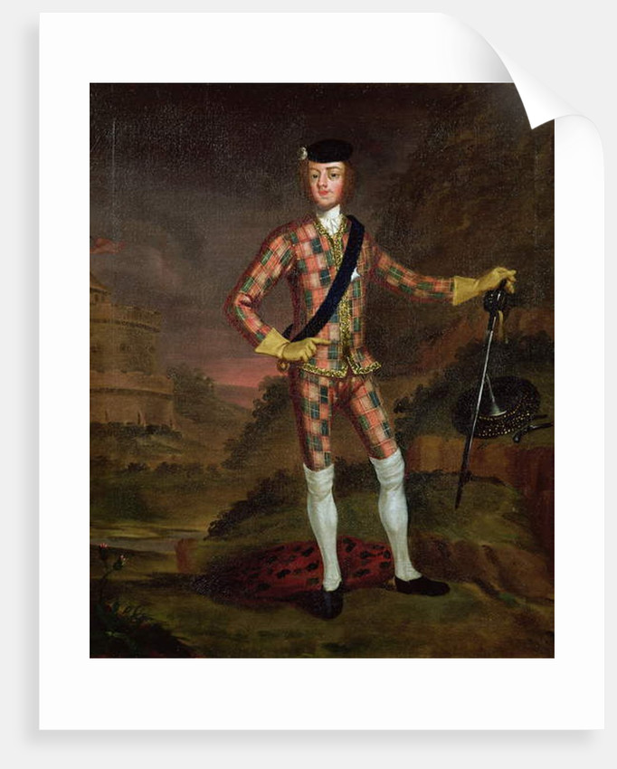 The Harlequin Portrait of Prince Charles Edward Stuart c.1745 by John Worsdale
