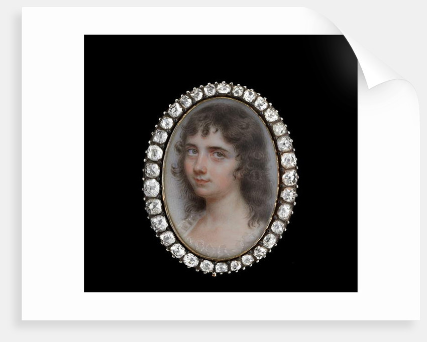 Portrait miniature of a Young Girl from the Taylor family by John Smart