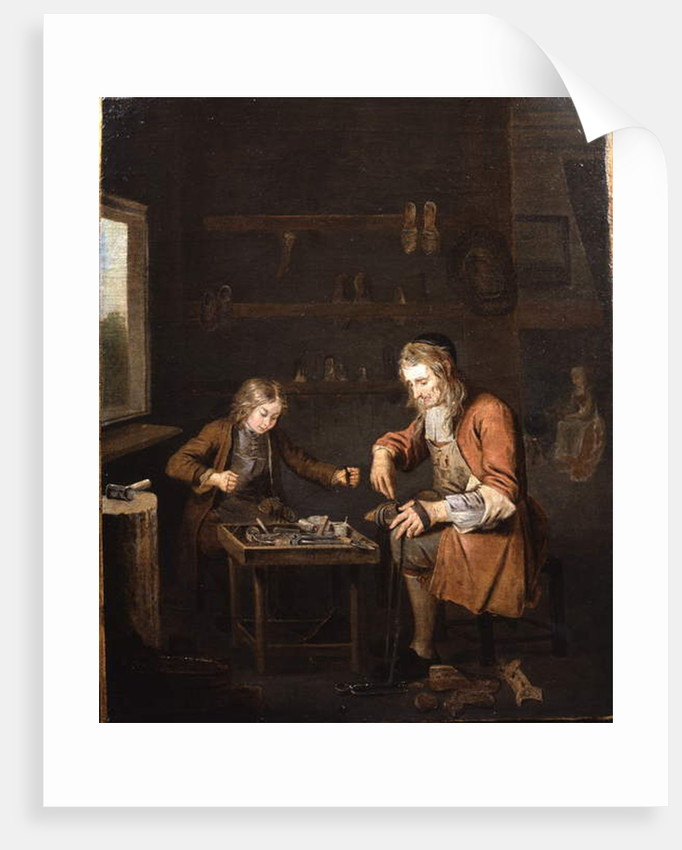 A Shoemaker and his apprentice by Pierre Angelis or Angillis