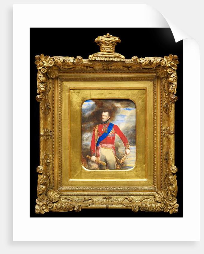A 'cabinet' sized portrait miniature of Arthur Wellesley, 1st Duke of Wellington, in field marshals uniform, 1814 by William Grimaldi