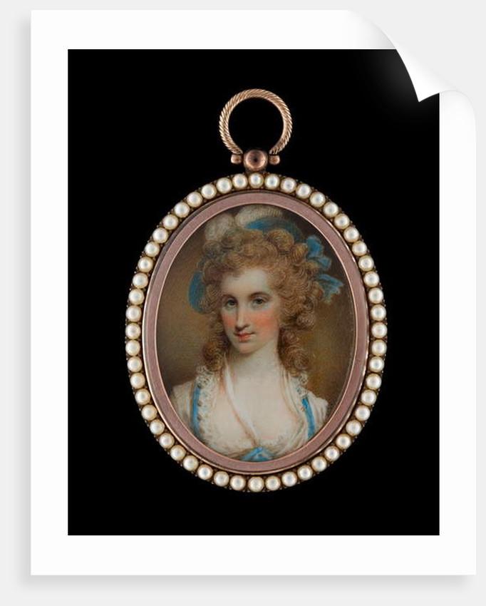 Portrait miniature of Angelica Schuyler Church by Samuel Shelley