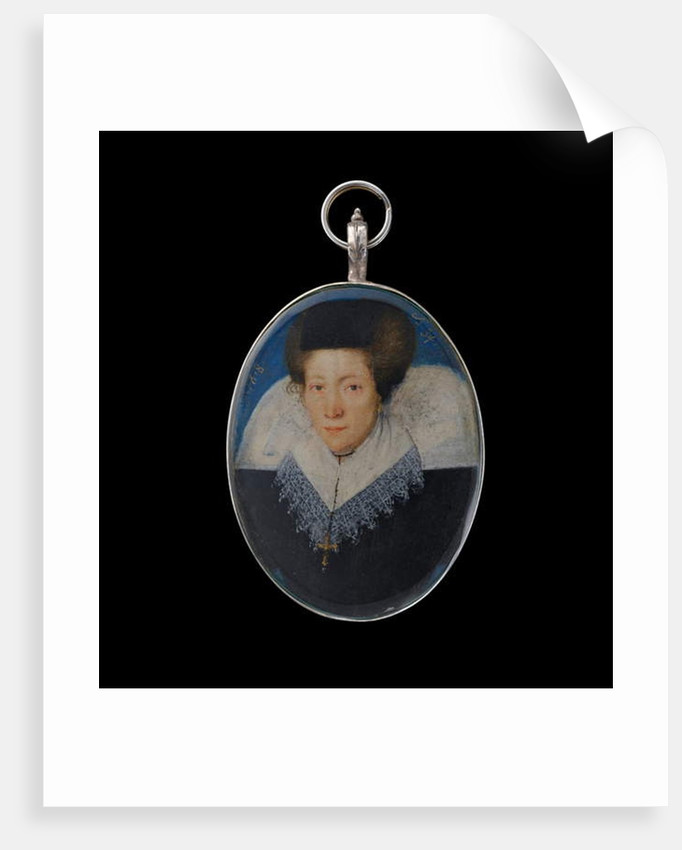 Portrait miniature of a lady, aged 34, 1618 by Flemish School