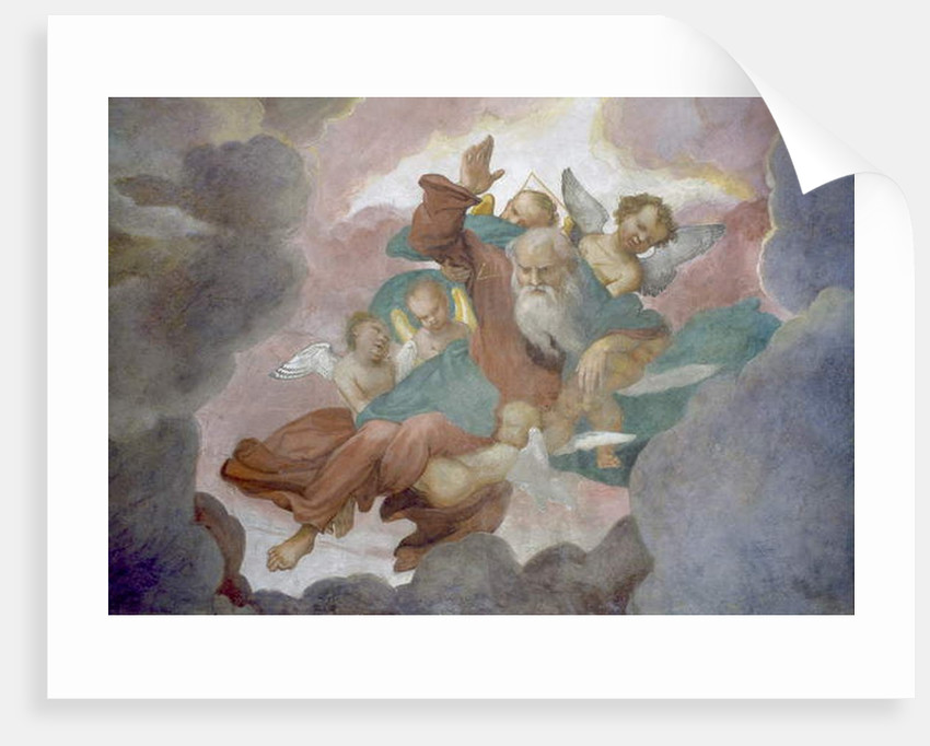 God lifted by Angels, 1525 by Lorenzo Lotto