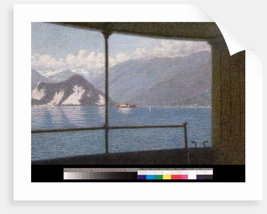 Boat on Lake Maggiore, 1915 by Angelo Morbelli