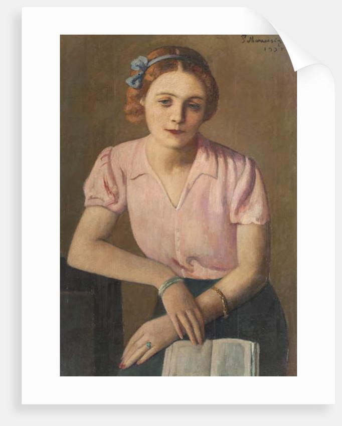 The reader, 1935 by Pietro Marussig