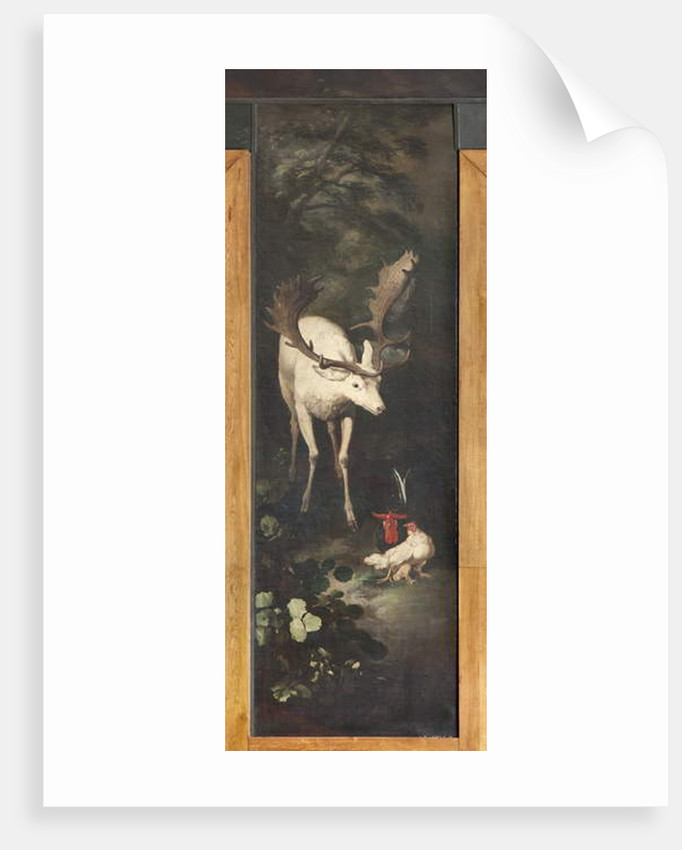 Reindeer and roosters, Myth of Orpheus by Italian School