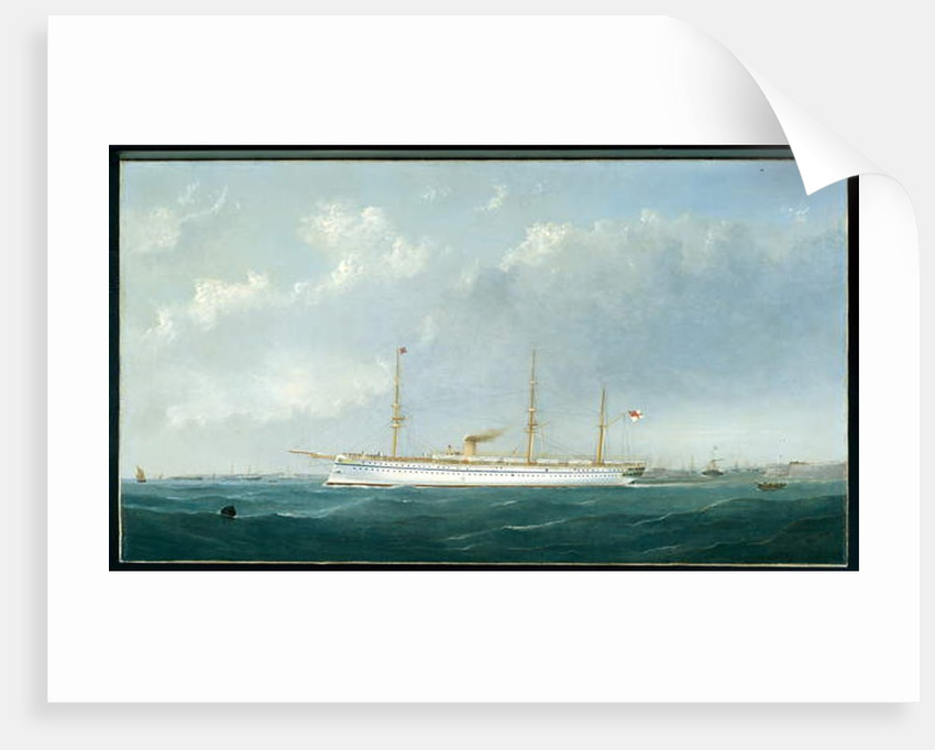 The Troopship 'Euphrates' leaving harbour, c.1870 by George Mears