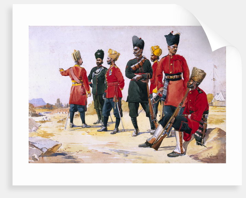 Soldier of the Rajputana Infantry by Alfred Crowdy Lovett