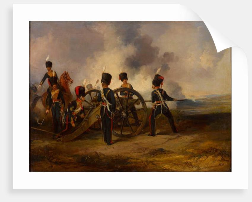 A Royal Horse Artillery gun crew loading, 1844 circa by Henry Martens