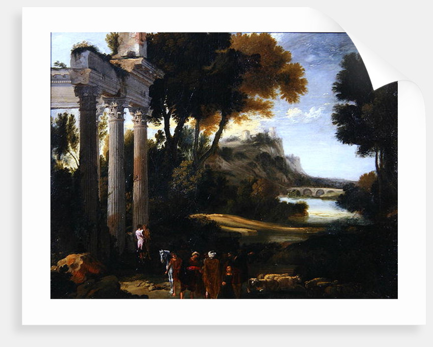 Classical landscape, 1760 by Giovanni Paolo Pannini or Panini