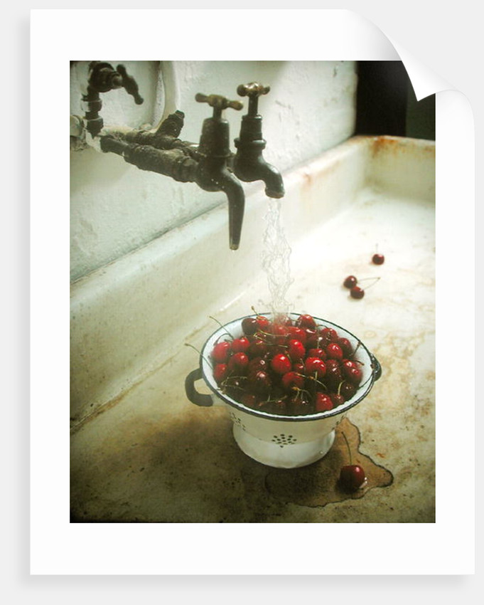 Washing cherries, 1988 by Norman Hollands