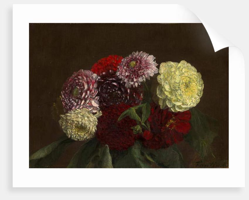 Dahlias, 1863 by Ignace Henri Jean Fantin-Latour