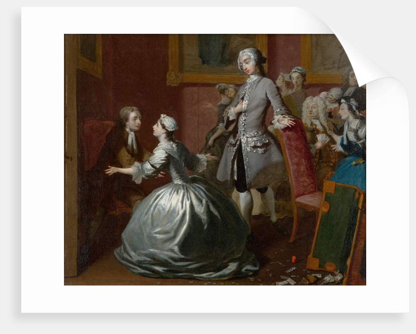 Pamela Greets her Father, 1743-44 by Joseph Highmore