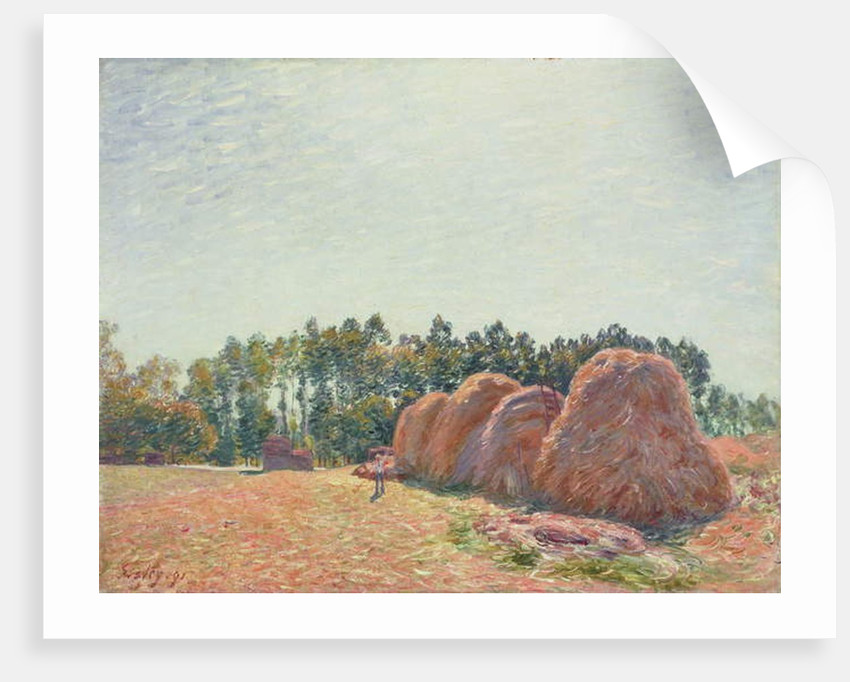 Haystacks at Moret, Morning Light, 1891 by Alfred Sisley