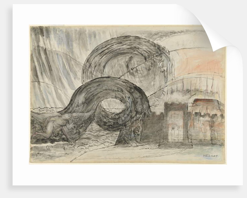 The angel crossing the Styx by William Blake