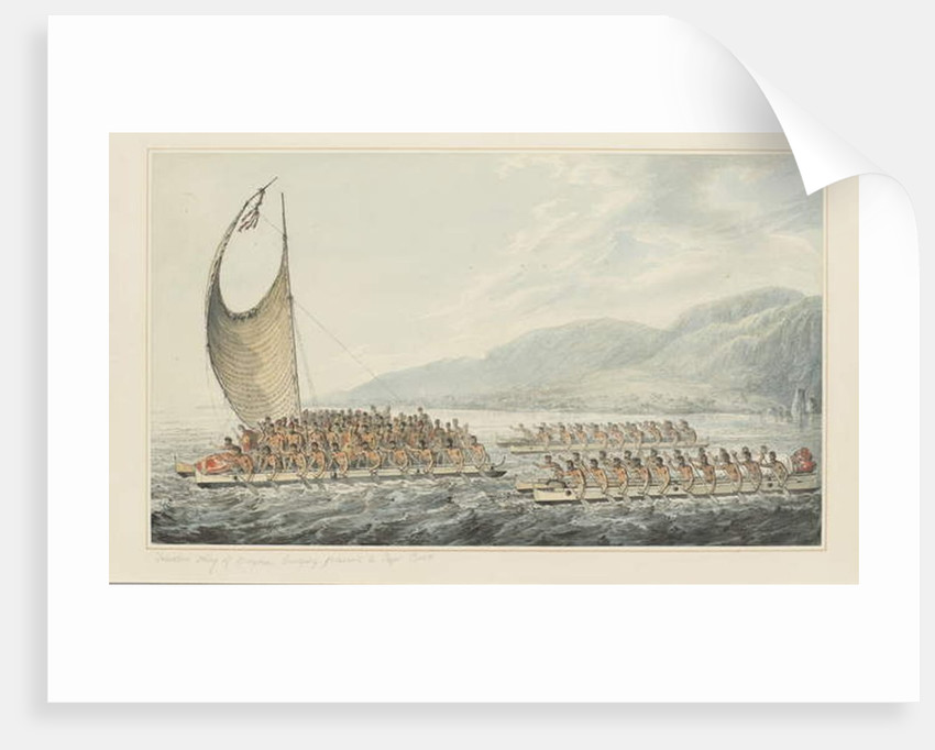 35: Tereoboo, King of Owyhee, bringing presents to Captain Cook by John Webber
