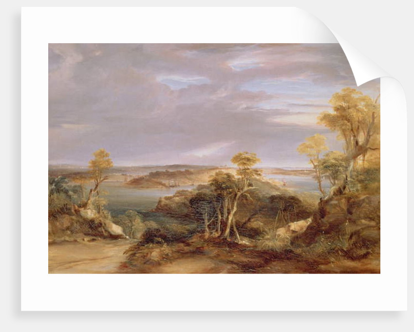 Sydney and Botany Bay from the North Shore, 1840 by Conrad Martens