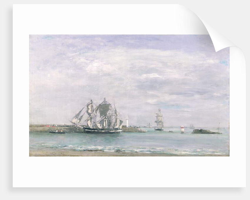 Portrieux by Eugene Louis Boudin