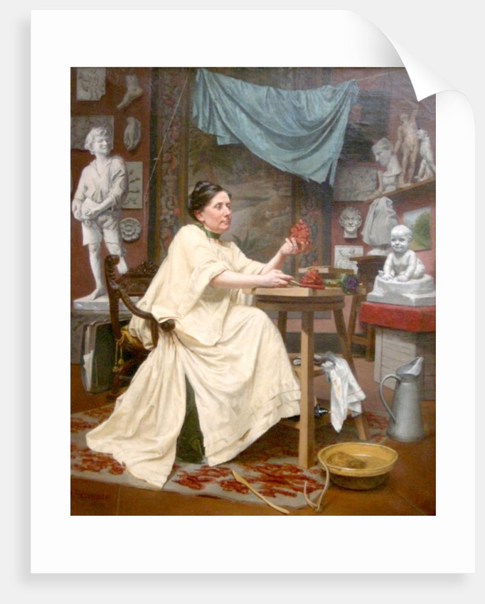 Mlle Moria in her studio by Blanche Polonceau
