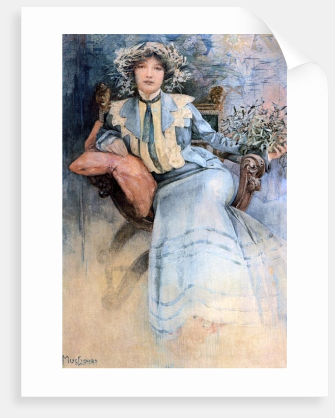 The artist's wife, 1903 by Alphonse Marie Mucha