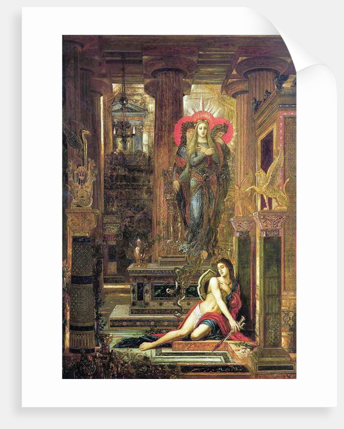 Orestes and the Erinyes, 1891 by Gustave Moreau