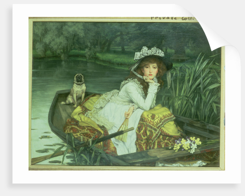 Young Woman in a Boat, or Reflections, c.1870 by James Jacques Joseph Tissot