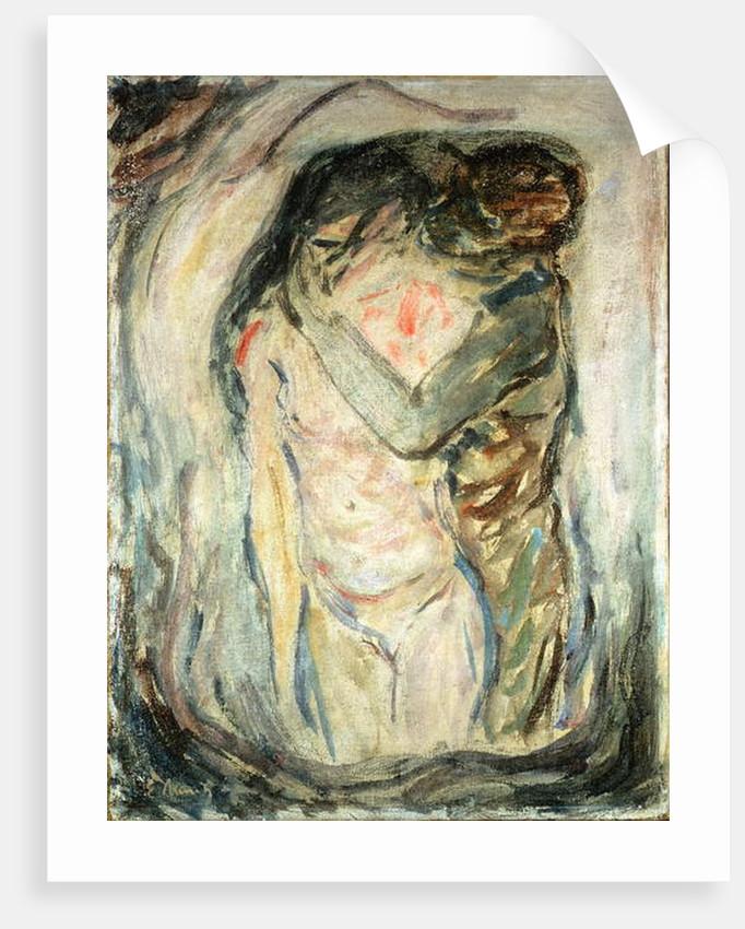 The Kiss, c.1910 by Edvard Munch
