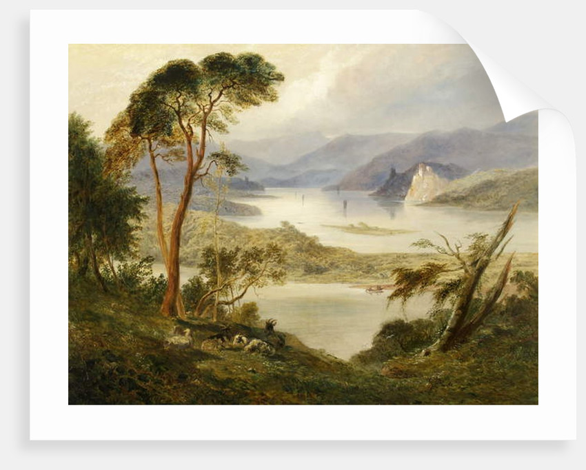 Oberwesel with Schonburg Castle, on the Rhine, 1840 by Joseph Murray Ince