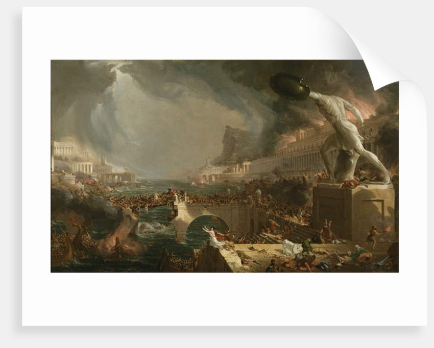 The Course of Empire: Destruction, 1836 by Thomas Cole